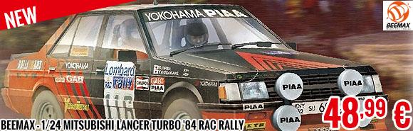 New - Beemax - 1/24 Mitsubishi Lancer Turbo '84 RAC Rally