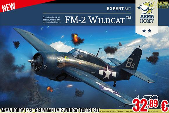 New - Arma Hobby 1/72 - Grumman FM-2 Wildcat Expert Set