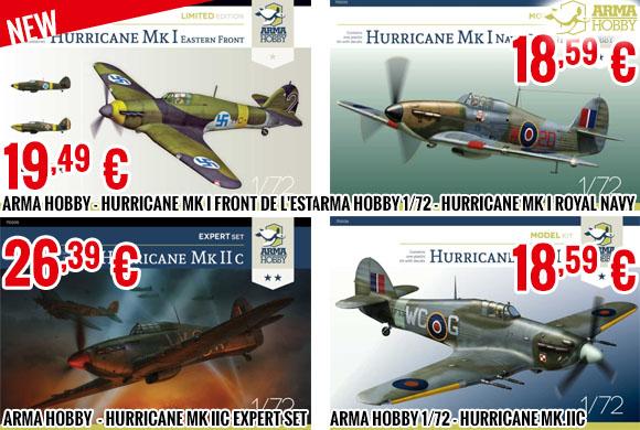 New - Arma Hobby 1/72 - Hawker Hurricane