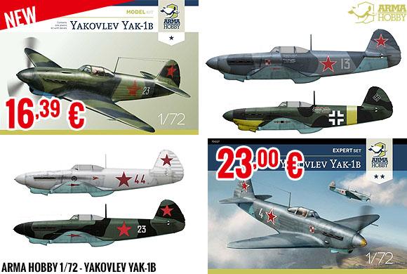 New - Arma Hobby 1/72 - Yakovlev YAK-1b