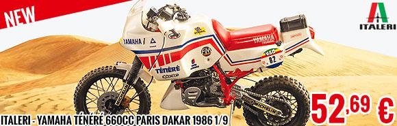 New - Italeri - Yamaha Ténéré 660cc Paris Dakar 1986 1/9