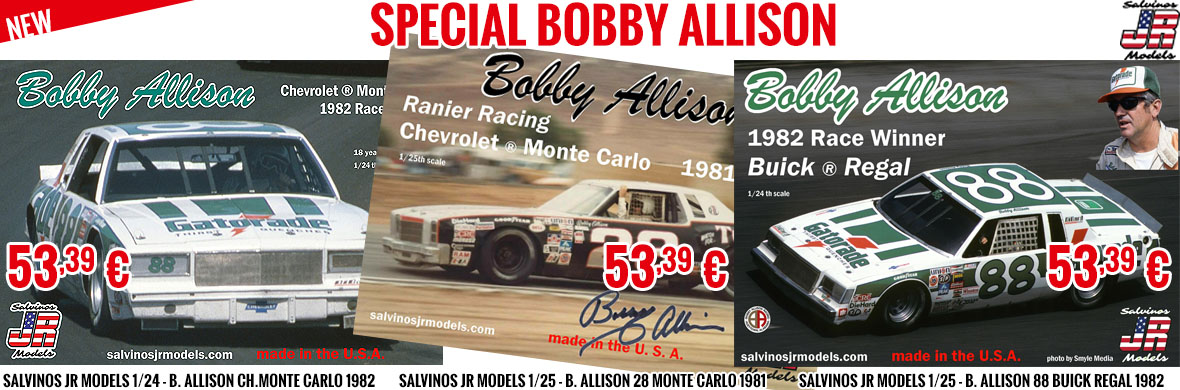 New - Salvinos JR Models 1/24 - B. Allison cars