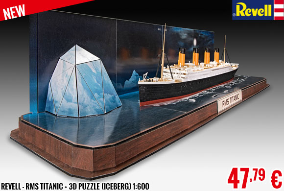 New - Revell - RMS Titanic + 3D Puzzle (Iceberg) 1:600