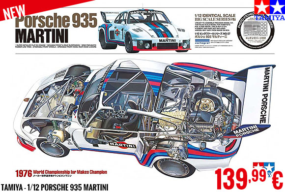 New - Tamiya - 1/12 Porsche 935 Martini