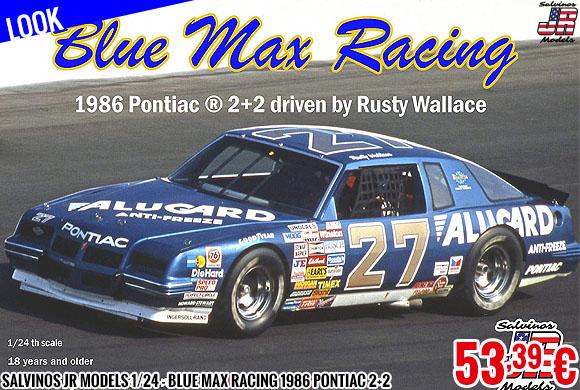 Look - Salvinos JR Models 1/24 - Blue Max Racing 1986 Pontiac 2+2