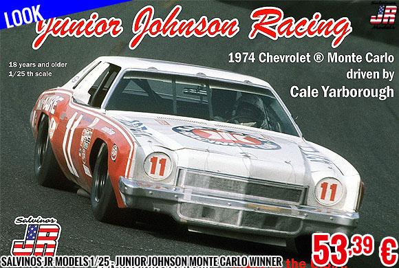 Look - Salvinos JR Models 1/25 - Junior Johnson Monte Carlo Winner