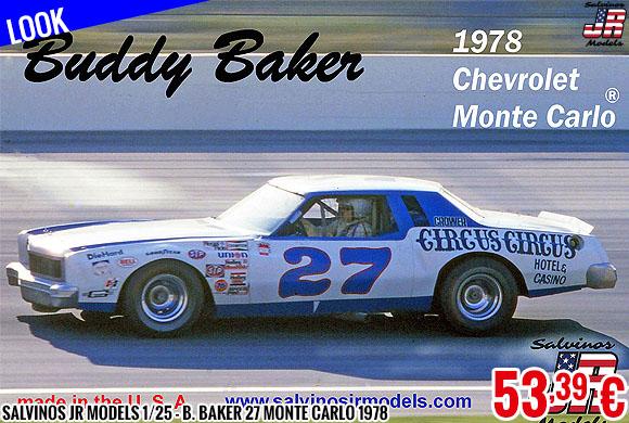 Look - Salvinos JR Models 1/25 - B. Baker 27 Monte Carlo 1978