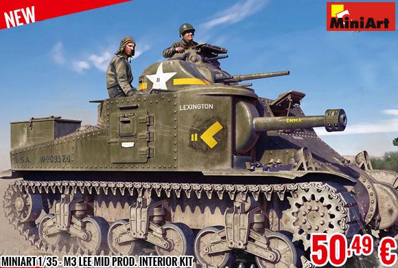 New - MiniArt 1/35 - M3 Lee Mid Prod. Interior Kit