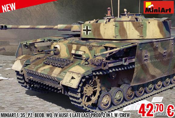 New - MiniArt 1/35 - Pz. Beob. Wq. IV Ausf. J Late-last prod, 2 in 1, w/Crew