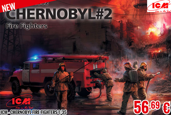 New - ICM - Chernobyl Fire Fighters 1/35