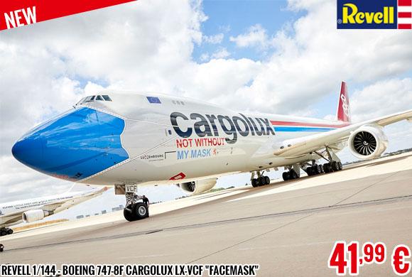 New - Revell 1/144 - Boeing 747-8F Cargolux LX-VCF