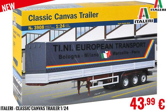 New - Italeri - Classic Canvas Trailer 1/24