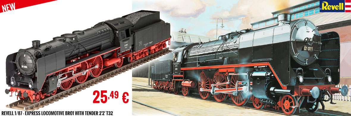 New - Revell 1/87 - Express locomotive BR01 with tender 2'2' T32