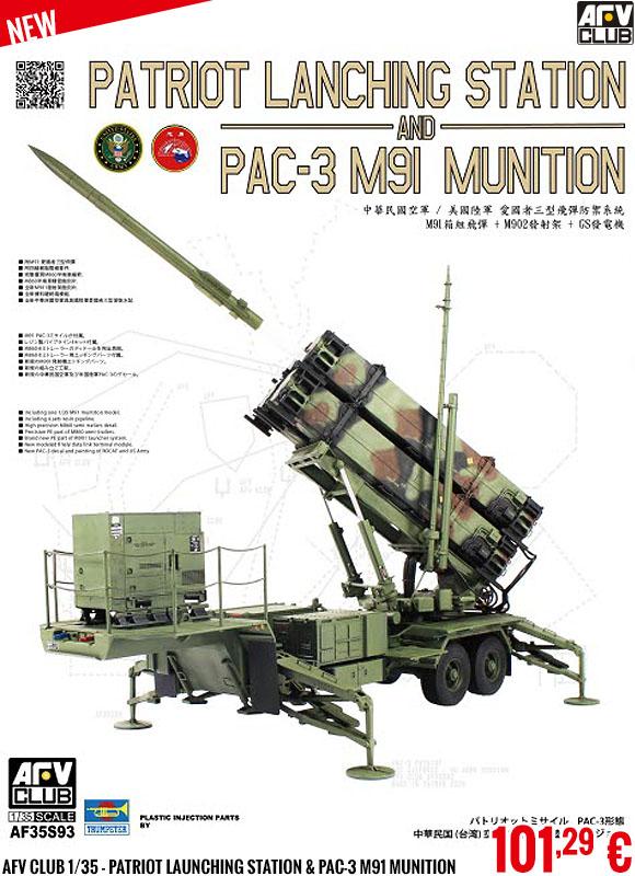 New - AFV Club 1/35 - Patriot Launching Station & Pac-3 M91 Munition