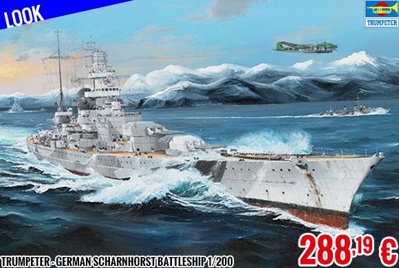 Look - Trumpeter - German Scharnhorst Battleship 1/200