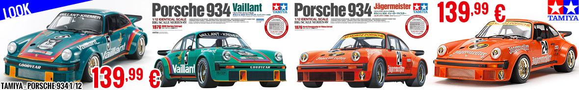 Look - Tamiya - Porsche 934 Vaillant & Jägermeister 1/12