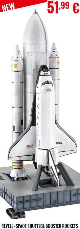 New - Revell - Gift Set Space Shuttle& Booster Rockets, 40th. An 1:144
