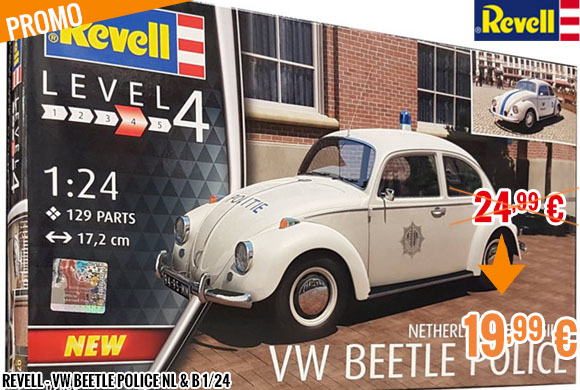 Promo - Revell - VW Beetle Police NL & B 1/24