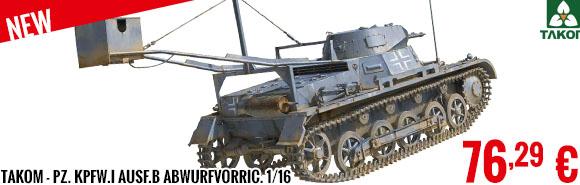 New - Takom - Pz. Kpfw.I Ausf.B Abwurfvorric. 1/16