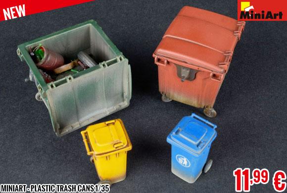New - MiniArt - Plastic Trash Cans 1/35