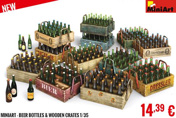 New - MiniArt - Beer Bottles & Wooden Crates 1/35