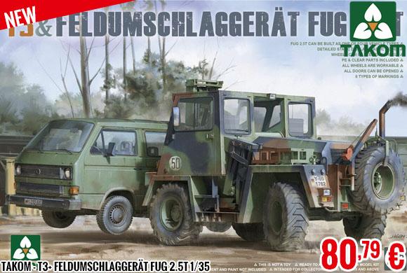 New - Takom - T3+ Feldumschlaggerät FUG 2.5t 1/35