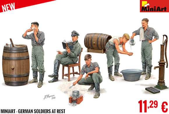 New - MiniArt - German Soldiers at Rest