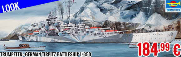 Look - Trumpeter - German Tirpitz Battleship 1/350