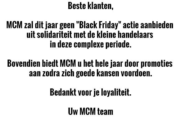 MCM - No Black Friday this year