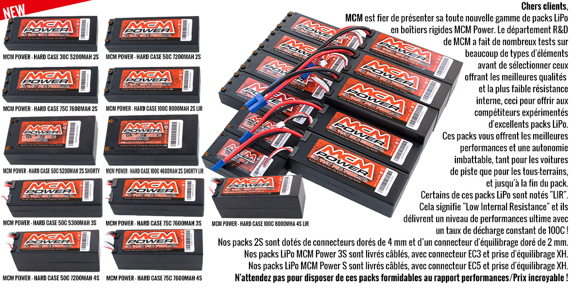 NEW - MCM Power - Hardcase LiPo Battery packs
