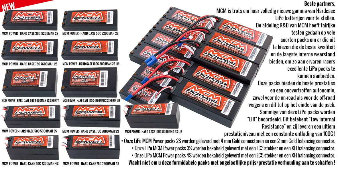 NEW - MCM Power - Hardcase LiPo Battery packs