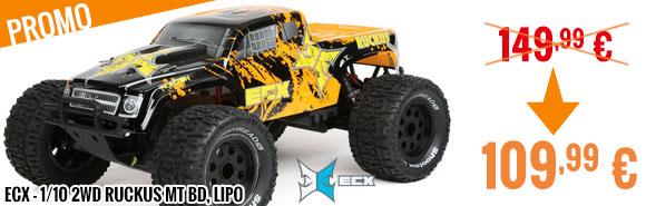 Promo - ECX - 1/10 2wd Ruckus MT BD, Lipo