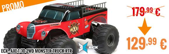 Promo - ECX - Axe 1/10 2WD Monster Truck RTR