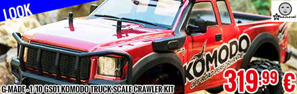 Look - G-Made - 1/10 GS01 Komodo Truck Scale Crawler Kit
