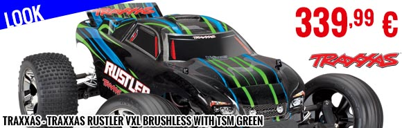 Look - Traxxas - Traxxas Rustler VXL Brushless With TSM Green