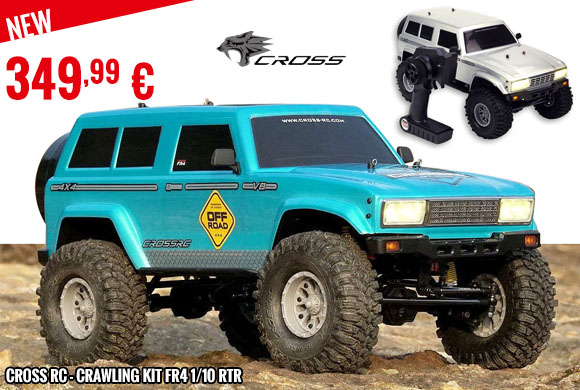 New - Cross RC - Crawling Kit FR4 1/10 RTR