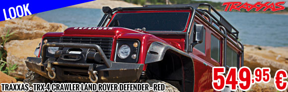 Look - Traxxas - TRX-4 Crawler Land Rover Defender - Red