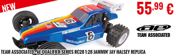 New - Team Associated - AE Qualifier Series RC28 1:28 Jammin' Jay Halsey Replica