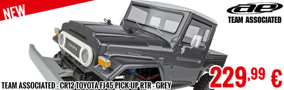 Look - Team Associated - CR12 Toyota FJ45 Pick-Up RTR - Grey