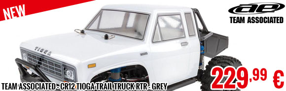 Look - Team Associated - CR12 Tioga Trail Truck RTR - Grey