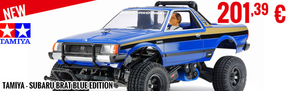 New - Tamiya - Subaru Brat Blue Edition