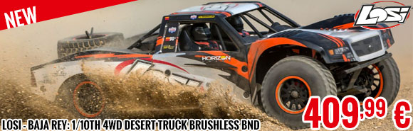 New - LOSI - Baja Rey: 1/10th 4wd Desert Truck Brushless BND