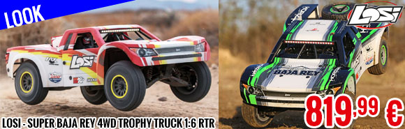 Look - Losi - Super Baja Rey 4WD Trophy Truck 1:6 RTR (with AVC Technology)