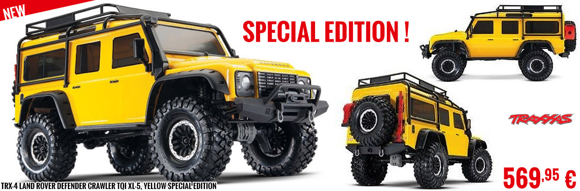 New - TRX-4 Land Rover Defender Crawler TQi XL-5, Yellow Special Edition