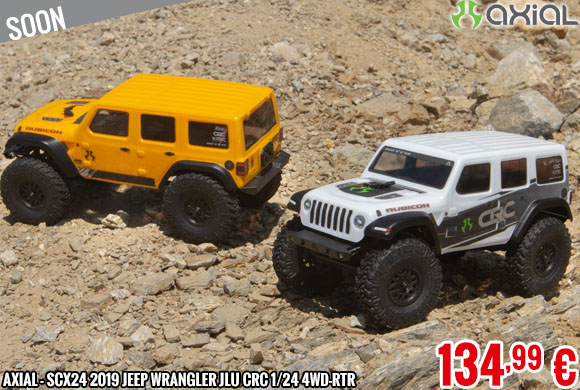 Soon - Axial - SCX24 2019 Jeep Wrangler JLU CRC 1/24 4WD-RTR