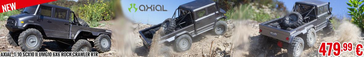 New - Axial - 1/10 SCX10 II UMG10 6x6 Rock Crawler RTR