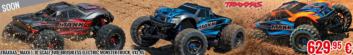 Soon - Traxxas - Maxx 1/10 Scale 4WD Brushless Electric Monster Truck, VXL-4S