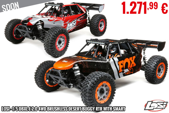 Soon - Losi - 1/5 DBXL-E 2.0 4WD Brushless Desert Buggy RTR with Smart