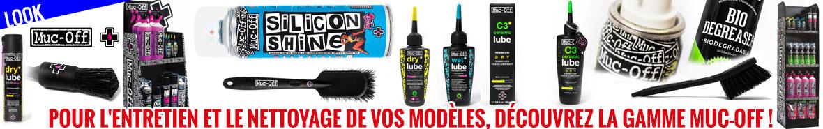 Look - Pour l'entretien et le nettoyage de vos modèles, découvrez la gamme Muc-Off !