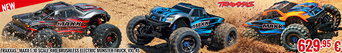New - Traxxas - Maxx 1/10 Scale 4WD Brushless Electric Monster Truck, VXL-4S